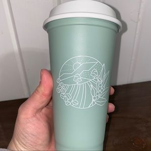2021 Starbucks Earth Day hot cup pastel sage green